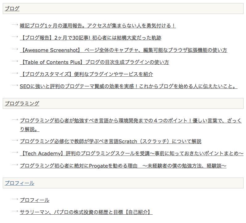 このサイトのHTMLサイトマップ